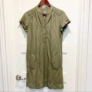 J. JILL Linen & Silk Sheath Dress with Pockets